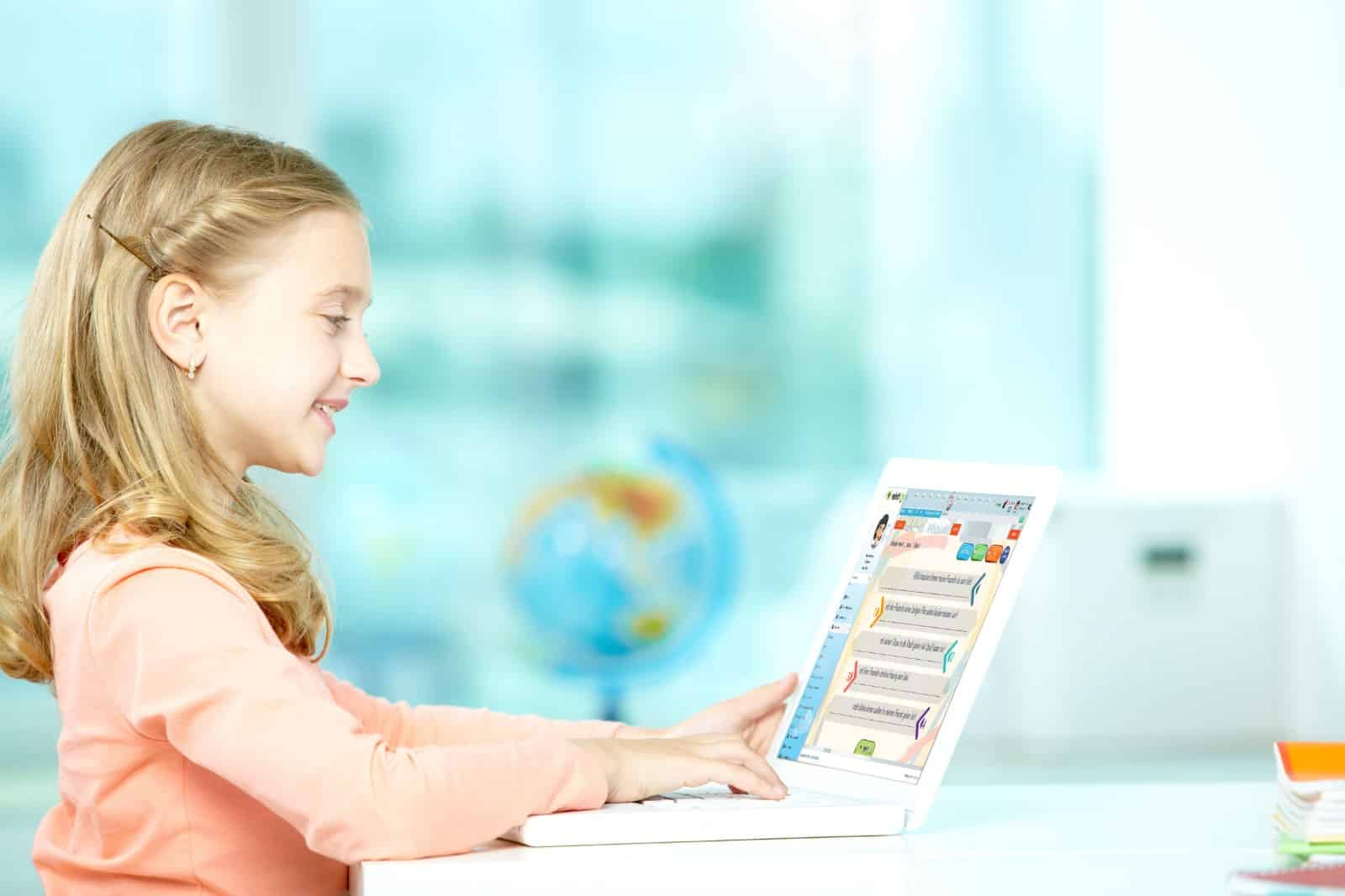 Kid learning German online